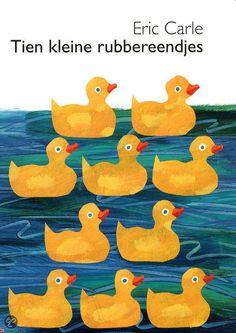 Tien kleine rubbereendjes kartonboekjes