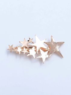 To find out about the Star Decorated Hair Clip at SHEIN, part of our latest Hair Accessories ready to shop online today! Gold Models, Latest Hairstyles, Gold Style, Cool Names, Women's Fashion Dresses, Romwe, Free Gifts, Hair Pins, Women Accessories