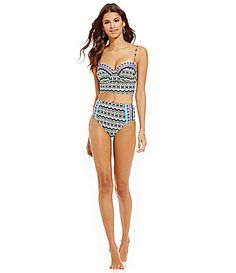 La Blanca Center Focus Bandeau Midkini and HighWaist Bottom #Dillards