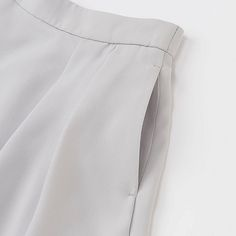 WOMEN High Waist Crepe Tucked Skirt