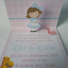 "18 curtidas, 3 comentários - Doce Encanto Arte&Decoracao (@doceencantoartedecoracao) no Instagram: ""Parte de dentro do convite do chá da Alice  #artesanal #handsome #handmade #scrapbook #scrap…"""