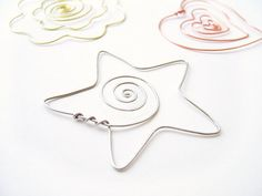Whimsical Star Wire Bookmark Handmade Choose by MySweetieBean, $4.00