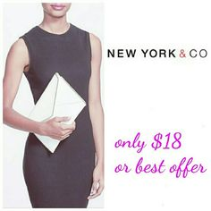 N.Y & CO CLUTCH  ENVELOPE White haute! Made in faux leather, envelope clutch conveys elegant, streamlined style. With a polished turnlock closure and interior zipper pocket, it features a chain link strap. N.Y & CO  Bags Clutches & Wristlets