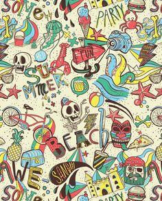 Ilustration by Alejandro Giraldo, pattern,