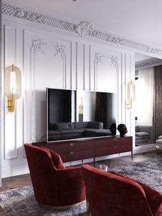 Living Room Home Interior Design, Classic Interior, French Interior,  Interior Styling, Living