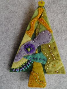 felt brooch in progress