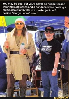 liam neeson star wars behind the scenes Liam Neeson, Jedi Outfit, Star Wars Witze, Star Wars Jokes, Blake Edwards, Clone Wars, Chewbacca, Starwars, Prequel Memes