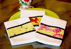 Nature Brights Kitchen: Triple Border Dish Towels | Sew4Home