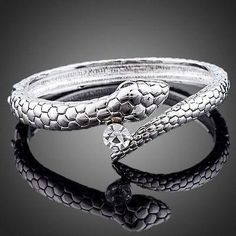 Snake Design Bangle  #fashion #khaista #earrings #rings #jewelry #necklace #dresses #women #womensfashion