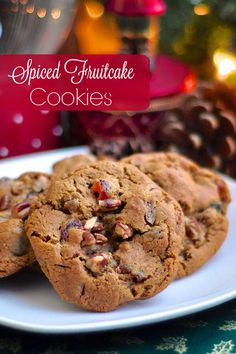 Dark Fruitcake Cookies - the flavour of a traditional molasses and spice dark fruitcake, translated into a crispy, chewy cookie. Even self professed fruitcake haters loved these!