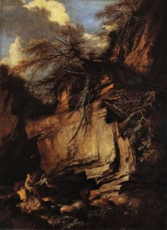 Salvator Rosa Landscape with Hermits, 1660-65