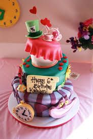 Resultado de imagen para alice in wonderland cake easy