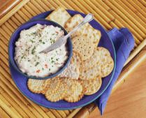 Crab Dip.  An easy recipe that's tasty and a hit at parties.  For those who like seafood that is.