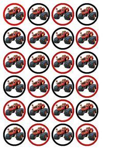 24 x Blaze & The Monster Machines #2 Cupcake Toppers: Amazon.co.uk: Kitchen & Home