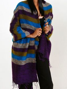 Soft, brushed cotton and acrylic shawls made in Nepal.
