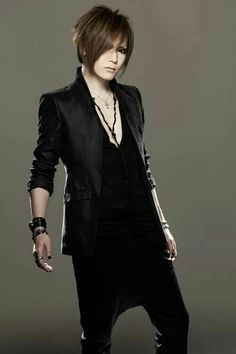 Uruha. The GazettE. His hair is so short in this picture! :3
