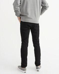 A&F Men's Slim Jeans in Black - Size 33 X 32