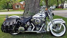 eBay: 1997 Harley-Davidson Softail 1997 White Blue Harley Davidson Heritage Springer FLSTS Ol' Boy softail VIDEO #harleydavidson