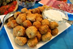 Mini Buffalo Chicken Meatballs