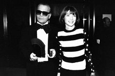 Karl Lagerfeld and Anna Wintour at the 12th annual CFDA Awards ceremony in New York, photographed by Robin Platzer, 1993