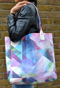 Colour Blocking Abstract Tote Bag   Create And Case   ASOS Marketplace