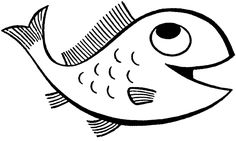 Black And White Fish Drawing - ClipArt Best