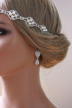 Bridal Teardrop Earrings, Art Deco Earrings - ZOE. via Etsy.