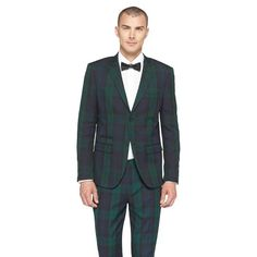 Black watch plaid suit