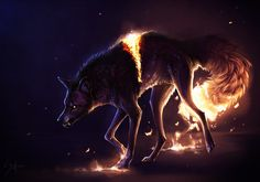 Wolf art - awesomedigitalart wrath by safiru helpivefallenandimtoolazytogetup Mythical Creatures Art, Mythological Creatures, Magical Creatures, Fantasy Creatures, Fantasy Wolf, Fantasy Art, Wolf Wallpaper, Wolf Pictures, Anime Wolf