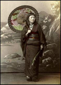 LONG HAIR and CLOSELY-CROPPED BANGS -- A Prostitute on Her Day Off in OLD JAPAN