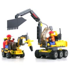 Construction Digger and Driller - Lego Compatible