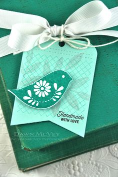 Handmade With Love Tag by Dawn McVey for Papertrey Ink (October 2014)