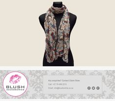 Be wise and turn heads in this super stylish owl print scarf. Owl Print, Scarves, Blush, Stylish, Accessories, Scarfs, Tie Head Scarves, Blushes