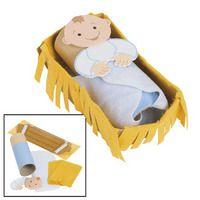 Baby Jesus In a Manger craft for kids. @Debbie Finch Haven