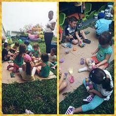 ¡Jornada de manualidades! Semilleros con panales de huevo y muchísimo más en #Chamburciandoando, nuestras #Vacacionesrecreativas