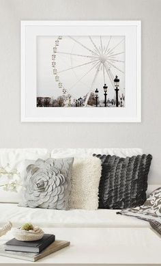 Paris Photography Ferris Wheel Paris Prints - Pinning it for the pillows