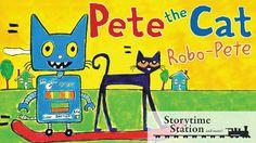 Pete the Cat: Robo-Pete by James Dean - Books for kids read aloud!