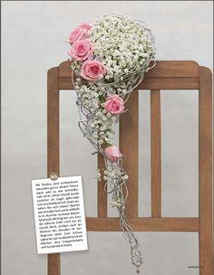Blumenstrauß mit Draht aus der weddingstyle