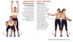 Fitness workout - Lunges, squats, chops with resistance tube