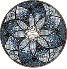 mosaic table top-love the black in it