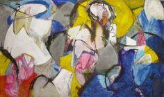 "Saatchi Art Artist richard kuhn; Painting, ""Abstract painting with figures 10117/17"" #art"