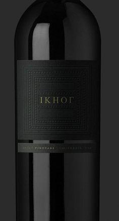 Minimalist black wine label #winebrands