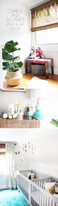 gender neutral nursery that's not yellow or animal themed // via lay baby lay