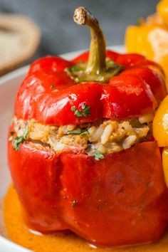 Lamb Recipes, Entree Recipes, Chicken Recipes, Sweets Recipes, Dinner Recipes, Recipe For Stuffed Bell Peppers, Easy Family Meals, Easy Meals, Sauteed Vegetables