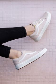 With the Vans Old Skool Zip Leather Pink Vans, it won't be just Wednesdays we…
