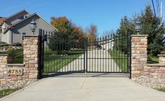 wrought iron driveway gates home depot - Google Search