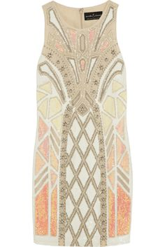 Needle & Thread   Geo Sundown embellished chiffon mini dress