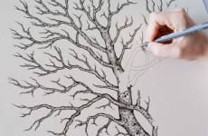 Hand drawn wedding guest fingerprint tree - www.alexisatkins.com Wedding Fingerprint Tree, Project Life, How To Draw Hands, Hand Drawn, Projects, Gifts, Painting, Gift Ideas, Log Projects