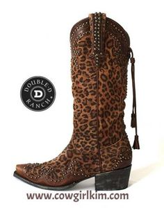 Double D Ranch by Lane Cheetah Chic Boots from Cowgirl Kim