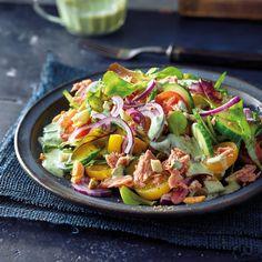 Tuna salad with basil dressing recipe Instant Pot Pork Chops, Weigh Watchers, Chops Recipe, Tuna Salad, Pork Chop Recipes, Whole 30, Side Dishes, Zucchini, Food And Drink